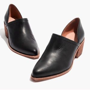 Madewell Brady Lowcut Bootie Block Heel Black 6